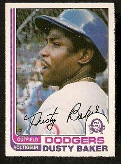 LOS ANGELES DODGERS DUSTY BAKER 1982 OPC O PEE CHEE # 375