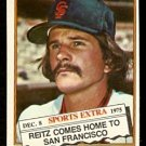 SAN FRANCISCO GIANTS KEN REITZ 1976 TOPPS TRADED # 158T EX/EM