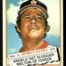 CALIFORNIA ANGELS BILL MELTON 1976 TOPPS TRADED # 309T EX