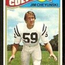 BALTIMORE COLTS JIM CHEYUNSKI 1977 TOPPS # 312 VG