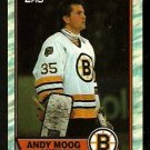 BOSTON BRUINS ANDY MOOG 1989 TOPPS # 160