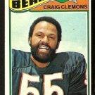 CHICAGO BEARS CRAIG CLEMONS 1977 TOPPS # 399 VG