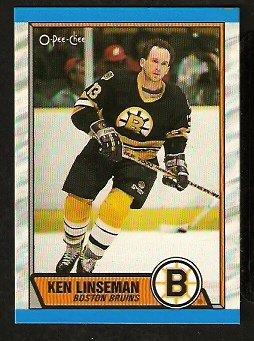 BOSTON BRUINS KEN LINSEMAN 1989 OPC O PEE CHEE # 62