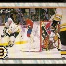 BOSTON BRUINS vs MONTREAL CANADIENS ACTION PHOTO 1989 OPC O PEE CHEE # 298