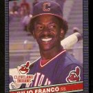 CLEVELAND INDIANS JULIO FRANCO 1986 LEAF # 93