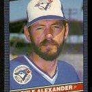 TORONTO BLUE JAYS DOYLE ALEXANDER 1986 LEAF # 182