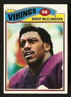 MINNESOTA VIKINGS BRENT McCLANAHAN 1977 TOPPS # 419 EX
