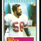 NEW ENGLAND PATRIOTS PETE BROCK 1983 TOPPS # 326
