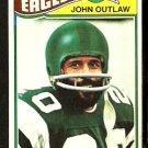 PHILADELPHIA EAGLES JOHN OUTLAW 1977 TOPPS # 466 VG