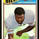 HOUSTON OILERS DON HARDEMAN 1977 TOPPS # 472 EX