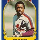1981 FLEER STAR STICKER CARD # 2 MONTREAL EXPOS RON LeFLORE