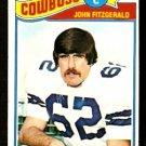 DALLAS COWBOYS JOHN FITZGERALD 1977 TOPPS # 447 EX+