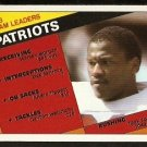 NEW ENGLAND PATRIOTS TEAM LEADER CARD TONY COLLINS 1984 TOPPS # 131