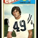 BALTIMORE COLTS DAVID LEE 1977 TOPPS # 482 VG+/EX