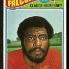 ATLANTA FALCONS CLAUDE HUMPHREY 1977 TOPPS # 484 EX