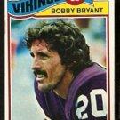 MINNESOTA VIKINGS BOBBY BRYANT 1977 TOPPS # 521 VG