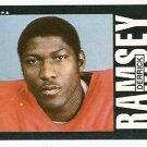 NEW ENGLAND PATRIOTS DERRICK RAMSEY 1985 TOPPS # 331