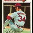 ST LOUIS CARDINALS JOHN D'ACQUISTO 1977 TOPPS # 19 VG