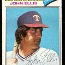 TEXAS RANGERS JOHN ELLIS 1977 TOPPS # 36 VG