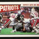 NEW ENGLAND PATRIOTS ANDRE TIPPETT GETS HIS MAN 1987 TOPPS # 96