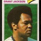 SEATTLE MARINERS GRANT JACKSON 1977 TOPPS # 49 VG