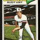 BALTIMORE ORIOLES RUDY MAY 1977 TOPPS # 56 EX