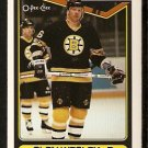 Boston Bruins Glen Wesley 1990 O-Pee-Chee OPC Hockey Card # 379