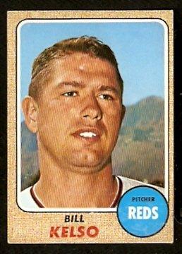 CINCINNATI REDS BILL KELSO 1968 TOPPS # 511 fair/good