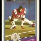 New England Patriots Fred Marion 1988 Topps Football Card # 188