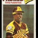 San Diego Padres Tito Fuentes 1977 Topps Baseball Card # 63 vg