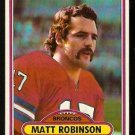 Denver Broncos Matt Robinson 1980 Topps Football Card # 12 em/nm