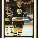 Boston Bruins Glen Wesley 1990 Topps Hockey Card # 379