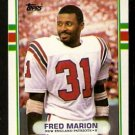 New England Patriots Fred Marion 1989 Topps Football Card 197