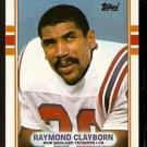 New England Patriots Raymond Clayborn 1989 Topps Football Card 203