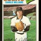 San Francisco Giants Charlie Williams 1977 Topps Baseball Card 73 vg