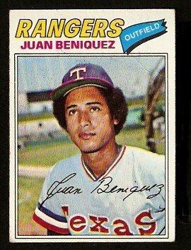 Texas Rangers Juan Beniquez 1977 Topps Baseball Card 81 vg