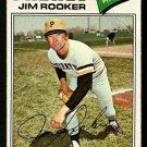 Pittsburgh Pirates Jim Rooker 1977 Topps Baseball Card 82 vg