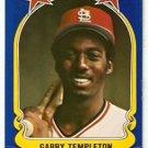 St Louis Cardinals Garry Templeton 1981 Fleer Star Sticker Baseball Card 125