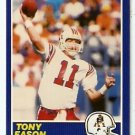 New England Patriots Tony Eason 1989 Score Football Card 32