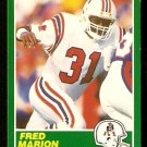 New England Patriots Fred Marion 1989 Score Football Card 232