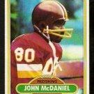 Washington Redskins John McDaniel 1980 Topps Football Card 254