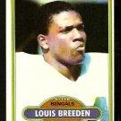 Cincinnati Bengals Louis Breeden 1980 Topps Football Card 364