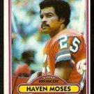 Denver Broncos Haven Moses 1980 Topps Football Card 496 em/nm