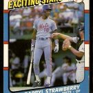 New York Mets Darryl Strawberry 1987 Fleer Baseballs Exciting Stars Baseball Card 41