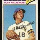 Milwaukee Brewers Tom Hausman 1977 Topps Baseball Card 99 vg