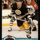 Boston Bruins Glen Wesley 1991 Topps Stadium Club Hockey Card 190