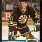 Boston Bruins Chris Nilan 1991 Topps Stadium Club Hockey Card 244