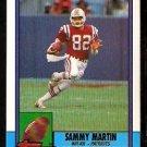 New England Patriots Sammy Martin RC Rookie Card 1990 Topps Football Card 422