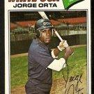 Chicago White Sox Jorge Orta 1977 Topps Baseball Card 109 vg