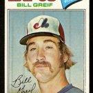 Montreal Expos Bill Greif 1977 Topps Baseball Card 112 vg
